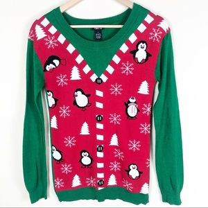 Ugly Penguin Christmas Sweater Women's Size Small